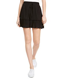 Juniors' Ruffle-Hem Mini Skirt