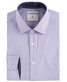 Con.Struct Men's Slim-Fit Geo Check Cooling Comfort Dress Shirt