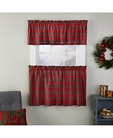 "Fireside Plaid 57"" x 36"" Window Tier Set"