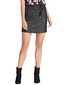 Keni Snake-Embossed Pull-On Skirt