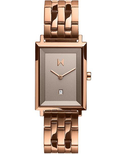 MVMT Women's Blair Rose Gold-Tone Stainless Steel Bracelet Watch 24mm
