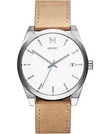 Men's Element Alkali Tan Leather Strap Watch 43mm