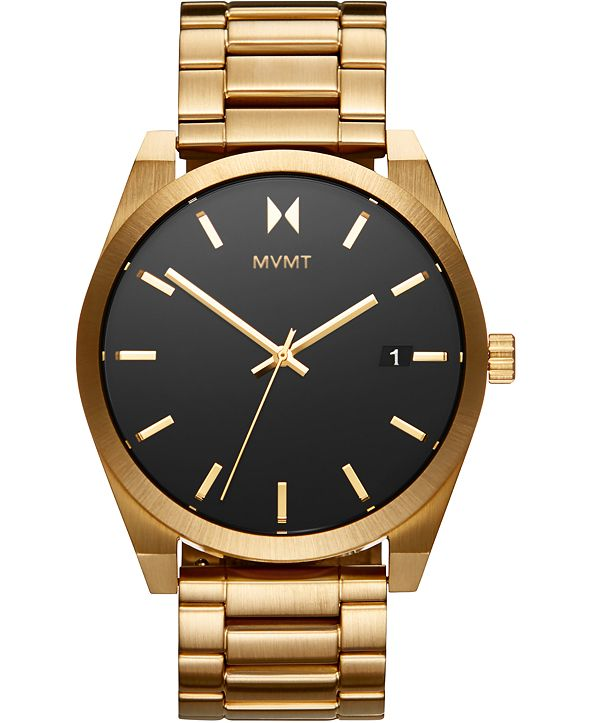 MVMT Men's Element Aether Gold Ion-Plated Stainless Steel Bracelet Watch 43mm