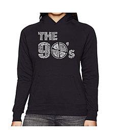 LA Pop Art Women's Word Art Hooded Sweatshirt -90S