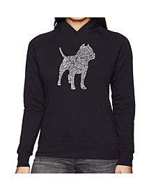 LA Pop Art Women's Word Art Hooded Sweatshirt -Pitbull