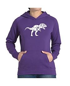 Women's Word Art Hooded Sweatshirt -Tyrannosaurus Rex