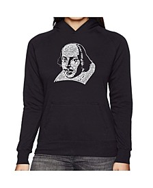 Women's Word Art Hooded Sweatshirt -The Titles Of All Of William Shakespeare's Comedies & Tragedies