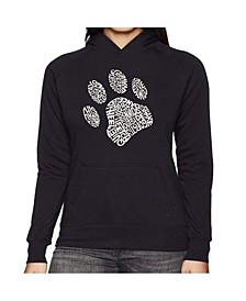 Women's Word Art Hooded Sweatshirt -Dog Paw
