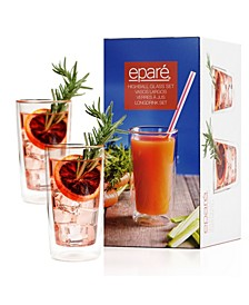 Epare 12 Oz Double-Wall Highball Glass- Set of 2