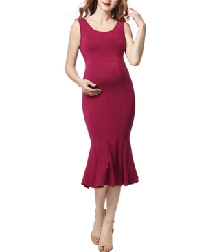 Kimi + Kai Bria Maternity Mermaid Midi Dress