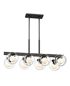Designers Fountain Meridian 8 Light Linear Chandelier