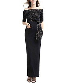 Everly off The Shoulder Maternity Gown