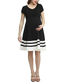 Theresa Maternity Colorblock Skater Dress
