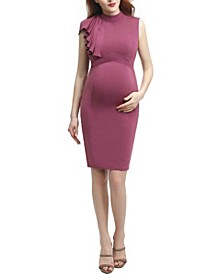 Josephine Maternity Ruffle Sheath Dress
