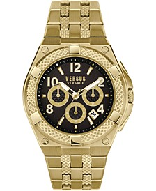 Men's Chronograph Esteve Gold Ion-Plated Bracelet Watch 46mm
