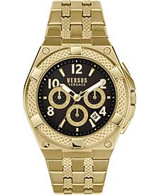 Men's Chronograph Esteve Gold Ion-Plated Bracelet Watch 46mm
