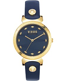 Women's Marion Blue Leather Strap Watch 36mm