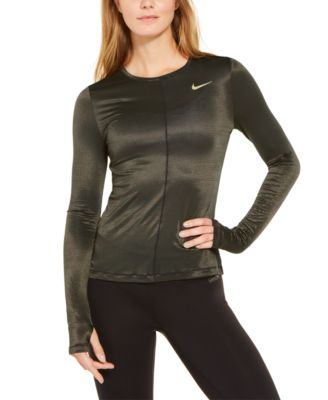 Nike Womens Dry Miler Long Sleeve Running Top