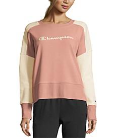 Women's Heritage Cotton Mixed-Texture Sweatshirt