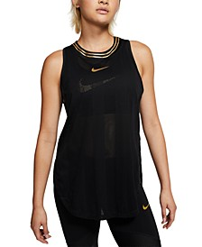 Women's Glam Metallic-Logo Racerback Tank Top