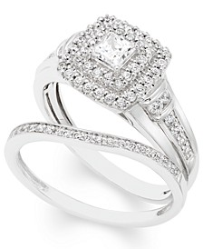 Certified Diamond (3/4 ct. t.w.) Bridal Set in 14k White Gold