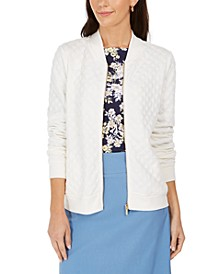 Petite Textured Bomber Jacket, Created for Macy's
