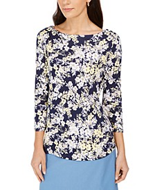 Pima Cotton Combo-Print Top, Created for Macy's