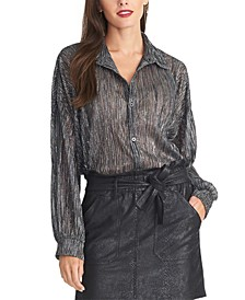 Ben Metallic Textured Top