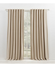 """Waller Blackout Solid Tab/Rod Pocket Curtain Panel, 52"""" x 84"""""""