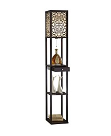 "Etagere 63"" Shelf Floor Lamp with Drawer"