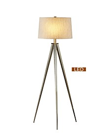 "Hollywood 63"" LED Tripod Floor Lamp with Dimmer"