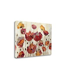 Poppies in The Rain by Silvia Vassileva Giclee Print on Gallery Wrap Canvas