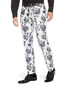 I.N.C. Men's Slim-Fit Floral Jacquard Pants, Created For Macy's