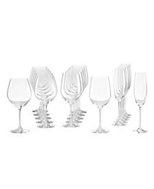 Tuscany Classics Assorted Stemmed Glasses, Set of 18