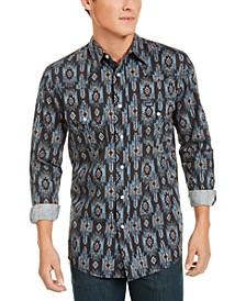 Men's Checotah Regular-Fit Geo-Print Western Shirt