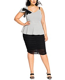 Trendy Plus Size Darling Bow Top