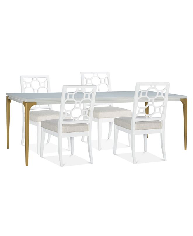Furniture Chelsea Expandable Dining Furniture, 5-Pc. Set (Table & 4 Side Chairs)
