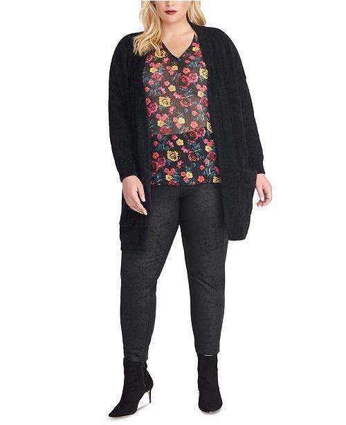 RACHEL Rachel Roy Trendy Plus Size Amara Cardigan
