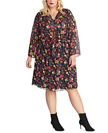 Trendy Plus Size Emma Floral-Print Dress