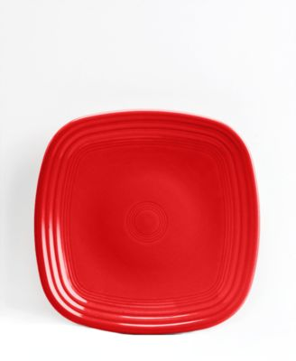 Scarlet Square Salad Plate