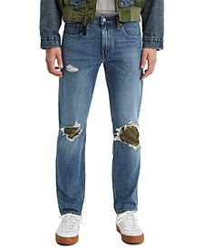 Men's 502 Tapered Fit Ripped with Camo Print Repair Jeans