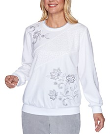 Lake Geneva Embellished Sweatshirt