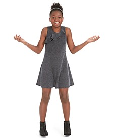 Big Girls Metallic Ruffled Dress, Created For Macy's