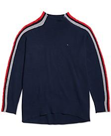 Women's Turtleneck Sweater With Zip Closure