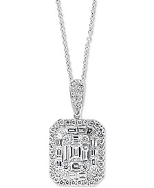 "EFFY® Diamond Cluster 18"" Pendant Necklace (1-3/4 ct. t.w.) in 14k White Gold"