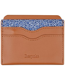 Men's Floral & Nappa Leather Card Case