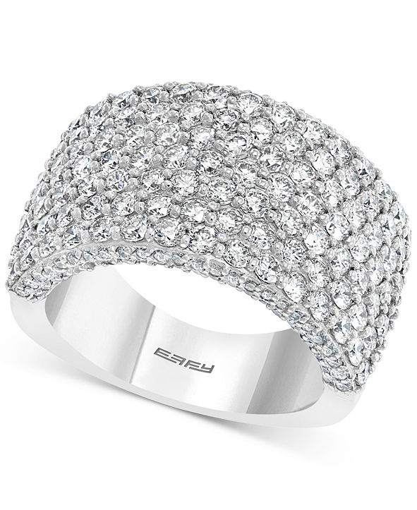 EFFY Collection LIMITED EDITION! EFFY® Diamond Cluster Statement Ring (3-1/2 ct. t.w.) in 14k White Gold