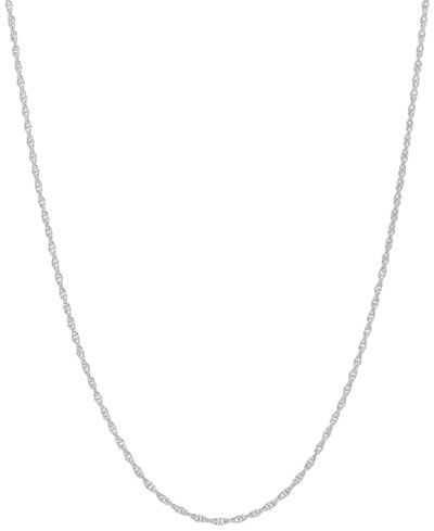 14k White Gold Necklace, 18