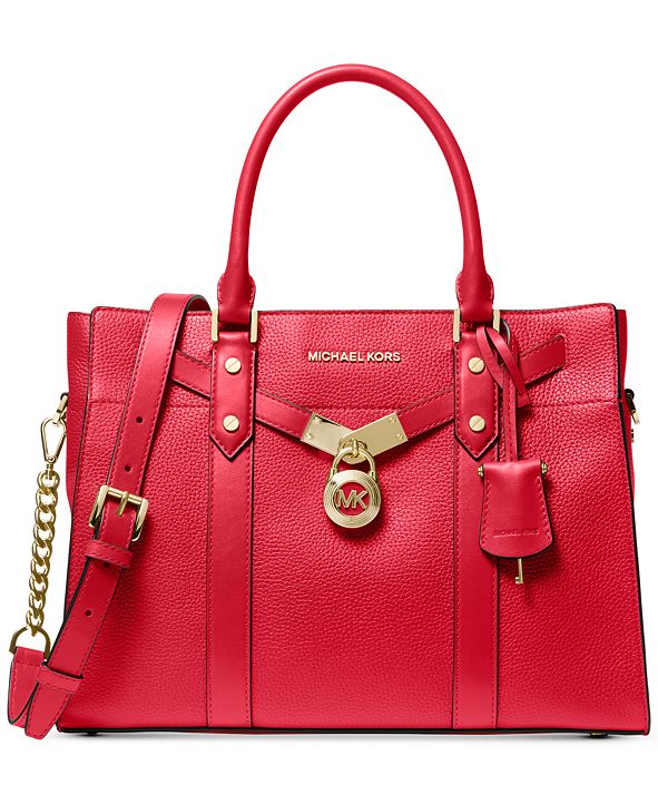 Michael Kors Nouveau Hamilton Large Leather Satchel