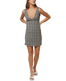 Juniors' Celina Plaid Tank Dress